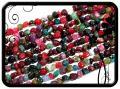 Achát - nugget - színes 47db