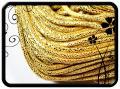 Csillámos műbőr - 5mm - arany