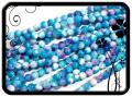 Jáde golyó - 8mm - kék-lila-pink 50db
