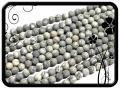 Jáspis golyó - 8,5mm - térkép jáspis - matt 46db