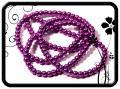 Lila 2 színű teklagyöngy 6mm